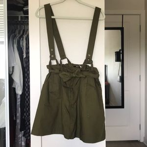 Olive Pinafore skirt! Only worn once!